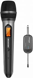 Wireless Microphone System, Alvoxcon UHF Dynamic Handheld mic for iPhone, Computer, Karaoke, Conference, DJ, Vocal Recordi...