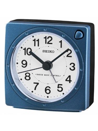 Seiko Funkwecker blau Kunststoff QHR201L