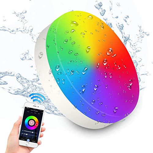 RGB 12W LED Deckenleuchte mit Alexa, Google Home, APP, Wifi, 1200LM IP54 farbwechsel Dimmbar Deckenlampe, 3000-6500K für Schlafzimmer Küche Kinderzimmer Wohnzimmer Balkon Küche, Ø22,5CM