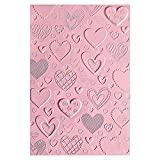 Sizzix Carpeta de repujado Textured Impressions 663628 3D Corazones by Courtney Chilson, Multicolor, talla única