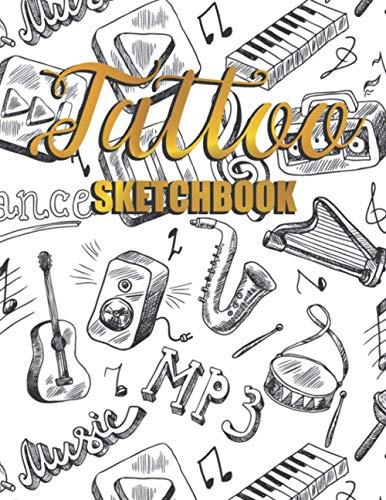 Tattoo Sketchbook: Tattoos Design Journal Illustration Sketching Template Notebook for Cool Illustrated Art Tattoo Artist