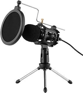 Loijon Kit de Microfone com Tripé, Filtro Pop, Cabo Adaptador de Para-brisa, Plugue de 3.5mm
