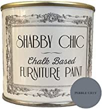 Shabby Chic Chalk Based Furniture Paint - Pebble Grey 250ml - Chalked, Use on Wood, Stone, Brick, Metal, Plaster or Plastic, No Primer Needed, Made in the UK