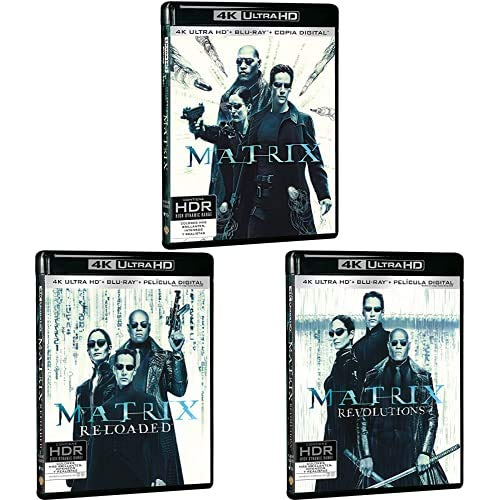 Pack Matrix - Incluye: Matrix + Matrix Reloaded + Blu-Ray + Matrix Revolutions 4k Uhd [Blu-ray]