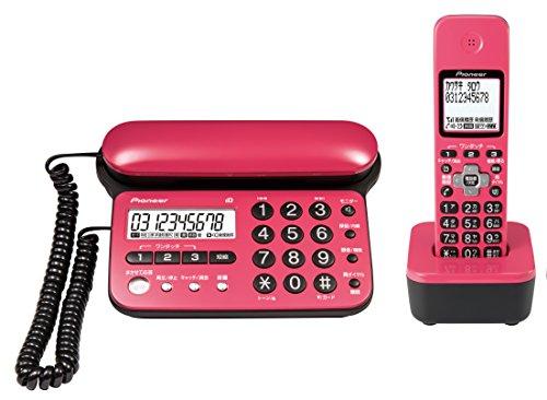 パイオニア TF-SD15S デジタルコードレス電話機 子機1台付き/迷惑電話防止 チェリーピンク TF-SD15S-CP