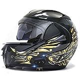 Motorcycle Modular Bluetooth Helmet, Flip-Type Double Sun Visor Full Helmet DOT Certified Helmet Built-in Mp3 FM...