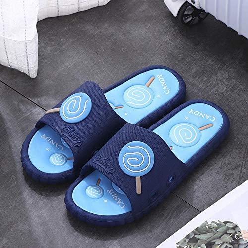 TDYSDYN Mujeres Zapatos de Piscina Chanclas de Playa,Zapatillas de baño en el baño, Zapatos de Playa afuera-Azul_42/43