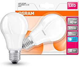 OSRAM LED STAR CLASSIC A / LED lamp, classic bulb shape, with screw base: E27, 5 W, 220…240 V, 40 W replacement, frosted, 4000 K, 1pack
