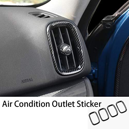 TRJGDCP Carbon Fiber Car Interior Center Console Lifter Shell della Copertura della Decalcomania for Mini Cooper S JCW One Countryman F60 Accessori Ricambi Auto (Color Name : Outlet Sticker 4pcs)