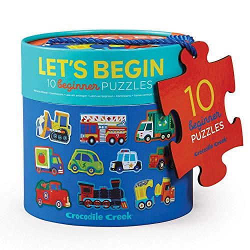 CROCODILE CREEK CC-3829520 - Set de 10 puzles de 2 piezas de los vehículos (Juguete)