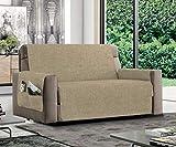 MB HOME BASIC Funda de sofá Antideslizante Relax, Color Crema, 4 plazas