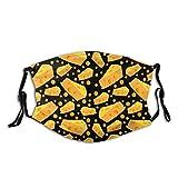Passamontagna per il viso con fori per formaggio, con tasca filtrante, lavabile, riutilizzabile, passamontagna