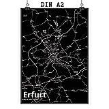 Mr. & Mrs. Panda Poster DIN A2 Stadt Erfurt Stadt Black -