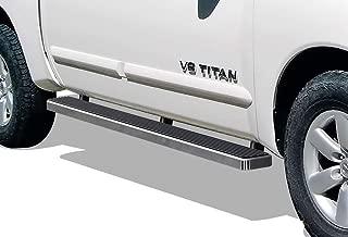 APS iBoard Running Boards 5 inches Custom Fit 2004-2020 Nissan Titan Crew Cab Pickup 4-Door & 16-20 Titan XD (Nerf Bars Side Steps Side Bars)