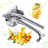 Savannah Home Authentic 100% Grade 304 Stainless Steel Manual Juicer | Premium Quality Fruit Press Squeezer | Lemons Orange Pomegranate Juicer | Citrus Extractor | Dishwasher Safe