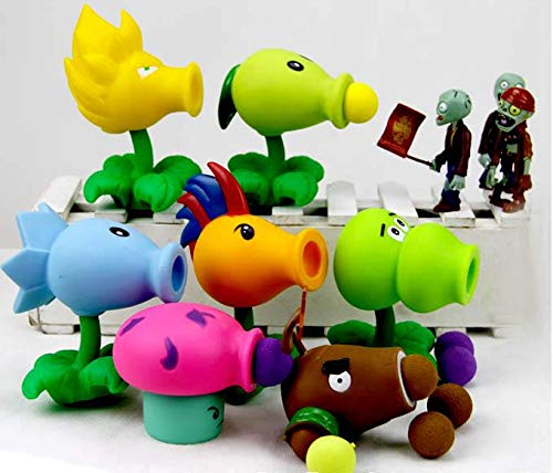 LINGJIA Plantas Vs Zombies Juguetes 7pcs/Set 2020 Nuevo Juego PVZ Plants Vs Zombies Peashooter PVC Action Figure Model Toys 7 Style 10cm Plants Vs Zombies Toys For Baby Gift