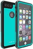 CellEver iPhone 7 Plus / 8 Plus Waterproof Case Shockproof IP68 Certified SandProof Snowproof Full Body Protective Cover Fits iPhone 7 Plus/iPhone 8 Plus - KZ C-Ocean Blue