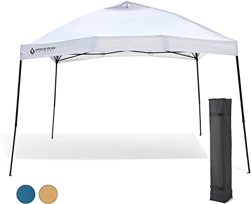 2021 Arrowhead Outdoor 12'x12' Pop-Up Canopy & Instant Shelter, Easy One Person Setup, Water & UV Resistant 150D Fabric Construction, Height Adjustable, Carry outlet sale Bag, Guide Ropes & Stakes Included, online sale USA-Based online