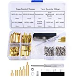 GeeekPi 220PCS Standoffs M2.5 Brass Spacer Hex Column Screw Nut Assortment Kit with Box,Male-Female for Raspberry Pi,with Acrylic Washer Screwdriver