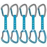 PETZL - Pack 6 Djinn Axess Quickdraw, Blue, 12 cm