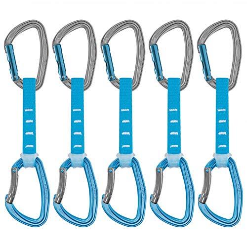 Petzl Packung mit 6 Sicherheitskarabinern, Unisex, Erwachsene, 12 cm, Blau