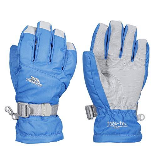 Trespass Simms, Blue, 2/4, Warme Gepolsterte Wasserdichte Handschuhe für Kinder / Unisex / Mädchen und Jungen, 2-4 Jahre, Blau