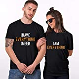 T Shirts for Women Men Couples Lovers Valentine's Day Short Sleeve I Have Everything I Need Letter Print Tshirt Tees