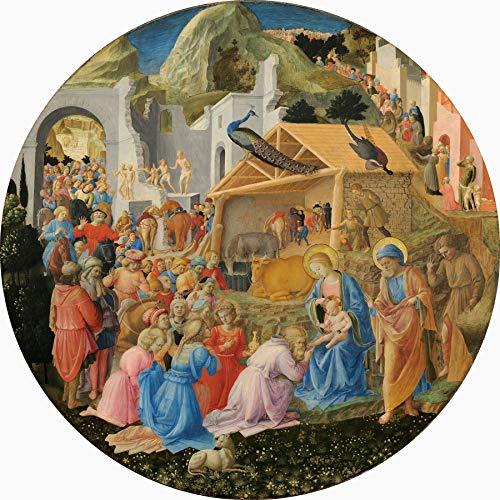 "Fra Filippo Lippi Adoration of The Magi 1440-1460 National Gallery of Art Washington DC 24"" x 24"" Fine Art Giclee Canvas Print (Unframed) Reproduction"