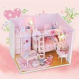 FunRun Süße DIY Puppenstube mit Miniatur Möbel, Puppenhaus Miniatur Puppenhaus Moebel DIY...