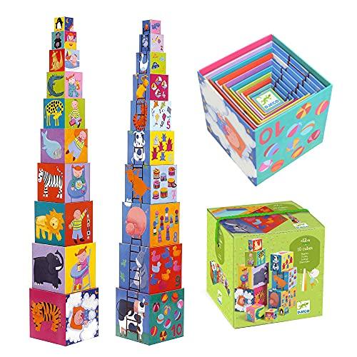 Djeco DJ08503 Blocks for Infants, Funny