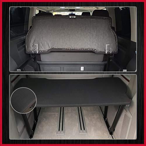BREMER SITZBEZÜGE Multivan Multiflexboard klappbar kompatibel mit VW T5 & T6 FB:UniSchwarz