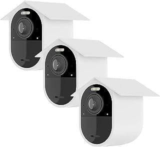 HOLACA Wetterfeste Silikon Schutzhülle (3 Stück) für Arlo Ultra 4K Arlo Ultra 2 Arlo Pro 3, Arlo Pro 4 Sonnenfeste Silikon Schutzhülle für Arlo Kamera – kratzfeste Schutzhülle – extra Schutz (weiß)