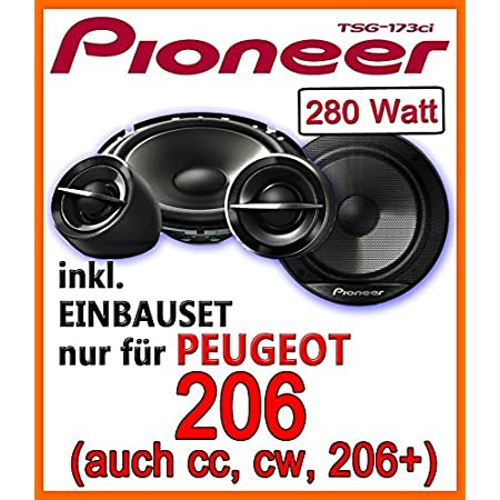 Peugeot 206 206cc 206sw 206 Pioneer Ts G173ci 16 Cm Speaker Installation Kit Navigation Car Hifi