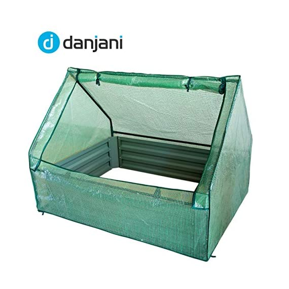 Danjani outdoor raised garden bed with drop over greenhouse - durable, anti-rust steel flower beds - 71. 3 gal planter… 7 perfect for every gardener: whether you're an experienced gardener or as new as freshly grown sprouts, this raised garden bed kit is perfect for you. The planter box makes growing herbs, vegetables and plants easy and stress-free. Enjoy low maintenance with the greenhouse, which provides weather protection, keeping heat and moisture in, and bugs and critters out. Protect and nourish plants: the greenhouse drop over can increase plant yield by providing a warm and nourishing environment to grow in. It also protects from extreme weather, making it possible to grow plants that normally wouldn't fare well in your area. Enjoy year-round fruits and vegetables with the option to grow in the winter. Save money: the rising cost of herbs and produce makes eating healthy an expensive option. But it doesn't have to. Growing your own food can be rewarding, not only for your body and mind but for your wallet too. Have year-round access to some of your favorite fruits, vegetables, and herbs with only the minimal cost of growing them!