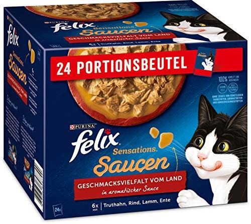 FELIX - Katzenbedarf, Größe 4er Pack (4 x 24 Beutel mit 85g)