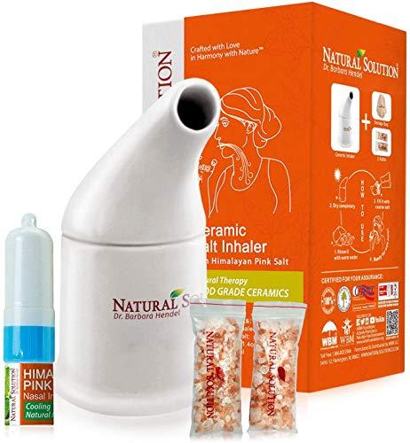 Himalayan Chef Pink Salt Ceramic Salt Inhaler with Nasal inhaler, (Pack of 1)
