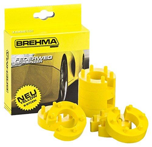 BREHMA Federwegbegrenzer Yellow Stick 21mm 8er Set universell Mit 6- fach Positionierung Federwegsbegrenzer
