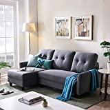 Best Sleeper Sofas - HONBAY L Shape Couch Bed Sofa Reversible Sleeper Review
