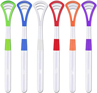 QINAIDI 6 Pack Tongue Cleaner Scraper for Healthy Oral Care, Easy to Use Antimicrobial Sweeper, Help Fight Bad Breath