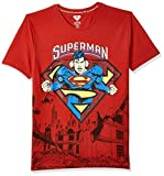 Superman By Kidsville Boy's Plain Regular fit T-Shirt (STY-19-20-002345 Red 5-6 Years)