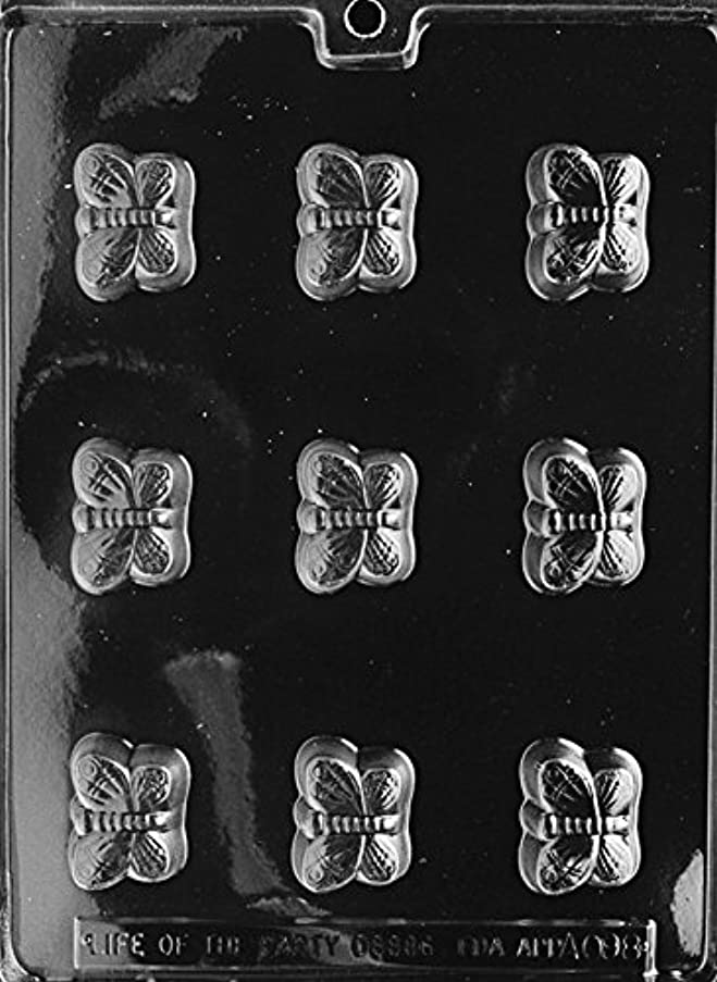 CybrTrayd AO098 Butterfly All Occasions Soap Mold with Exclusive Cybrtrayd Copyrighted Soap Molding Instructions