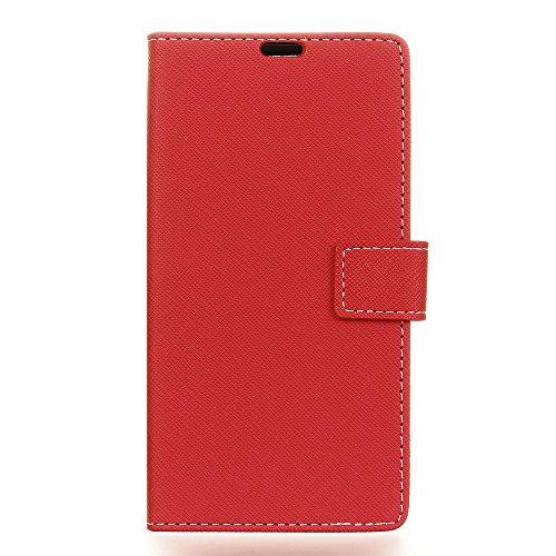 SHIEID Hülle für LG G7 Fit Hülle Brieftasche Handyhülle Tasche Leder Flip Hülle Brieftasche Etui Schutzhülle für LG G7 Fit(Rot)
