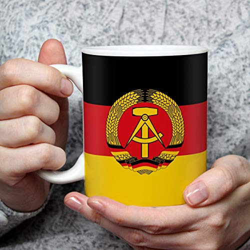Geschenk Tasse mit Flagge DDR Länder Flaggen Geburtstagsgeschenk Souvenir Deutsche Demokratische Republik für Ost Nostalgiker
