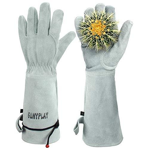 SUNYPLAY Gardening Gloves for Women/Men , Thorn Proof Garden Work Gloves with Long Heavy Duty...