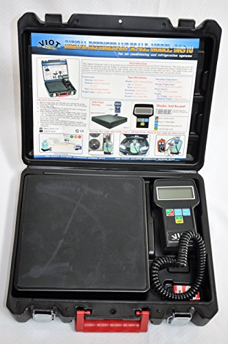 Digital Refrigerant Charging Recovery Scale, Accurate to 1/4 oz or 5 gram, Model:DRS10 Capacity to 220 lb Good for All Size Refrigerant Drums and Refrigerant recovery Tanks