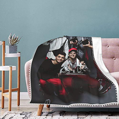 AORSTAR Cnco Collage Manta Sherpa de franela ligera para sofá de aire acondicionado, colcha cálida para todas las estaciones de 201 x 152 cm