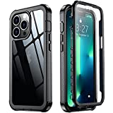 Red2Fire Designed for iPhone 13 Pro Max Case, with Built-in Screen Protector 360° Full Body Protective Cover Heavy Duty Lightweight Slim Shockproof Clear Phone Case for iPhone 13 Pro Max 6.7 inch