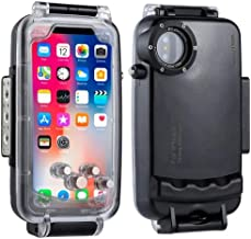 GARTOL iPhone X/XS 40m/130ft Waterproof Diving Housing Photo Video Taking Underwater Cover Case (Black)