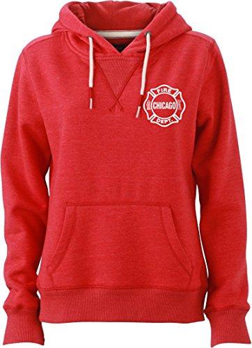 Chicago Fire Dept. - Pullover mit Kapuze für Frauen (L)