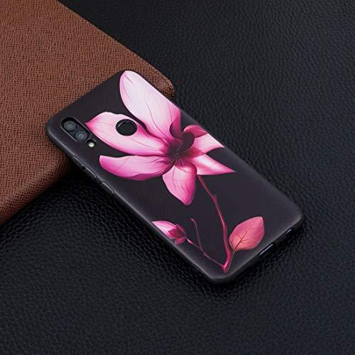 LICHONGGUI Estuche Blando con Estampado en Relieve de TPU for Huawei Honor 10 Lite/P Smart 2019 (Mandala) (Color : Púrpura)